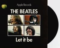 THE BEATLES Let It Be Vinyl Record 7 Inch Apple 2019